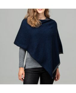 Two Tone Possum Poncho Zephyr/Slate