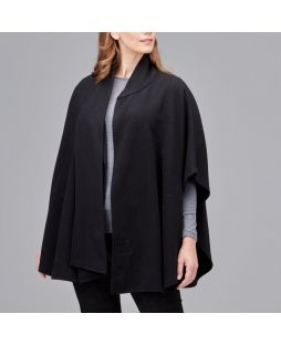 Ultimate Wool Swing Cape Black