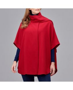 Ultimate Wool Swing Cape Cherry Red