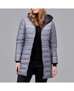 Reversible Down Jacket Black Speckle
