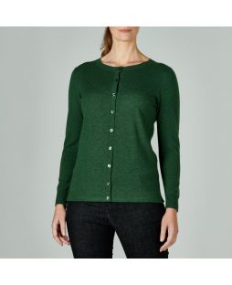 Merino Wool Brilliant Cardigan Green