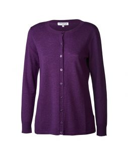 Merino New Brilliant Cardigan Amethyst