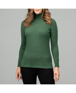 Merino Iconic Roll Neck Sweater Green