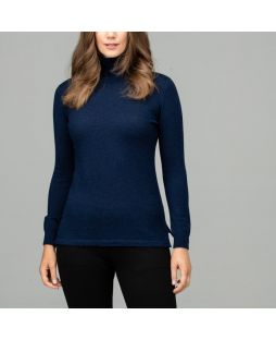 Merino Iconic Roll Neck Sweater Navy