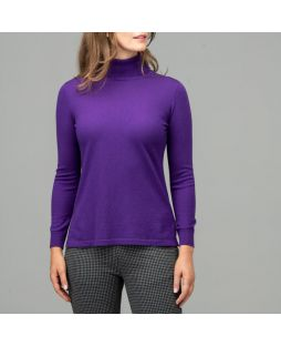Merino Iconic Roll Neck Sweater Purple