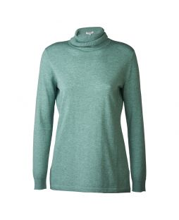 Merino Iconic Roll Neck Sweater Basil