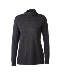 Merino Iconic Roll Neck Sweater Charcoal Marle
