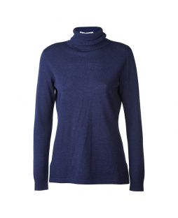 Merino Iconic Roll Neck Sweater Midnight