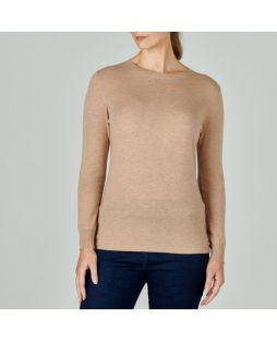 Merino Iconic Crew Neck Sweater Camel