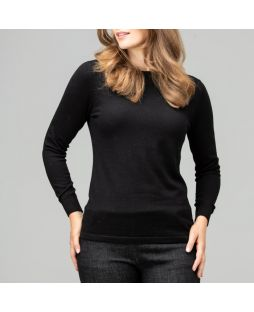 Merino Iconic Crew Neck Sweater Black