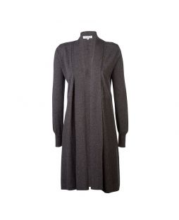 Merino Edge to Edge Cardigan Charcoal Marle
