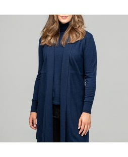 Merino Edge to Edge Cardigan Navy