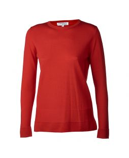 Merino Jersey Crew Pullover Red