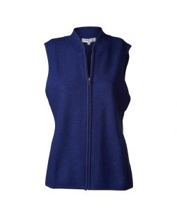 Boiled Wool Vest Midnight