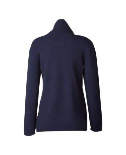 Possum Hamilton Roll Neck Sweater Navy