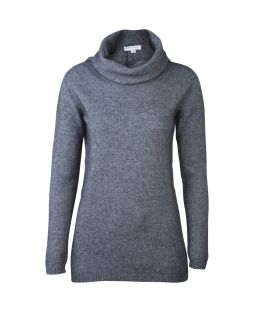 Possum Merino Roll Neck Sweater Pewter