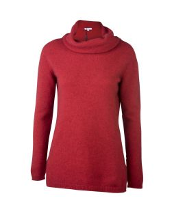 Possum Merino Roll Neck Sweater Red