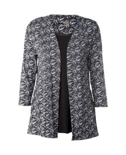 Bamboo Edge to Edge Cardigan Palm Leaf Print
