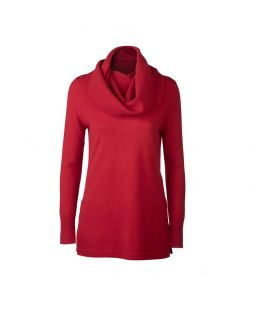 Merino Crew Neck Sweater with Snood