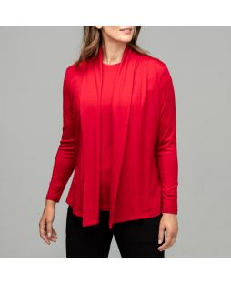 Merino Wool Emily Cardigan - Cherry