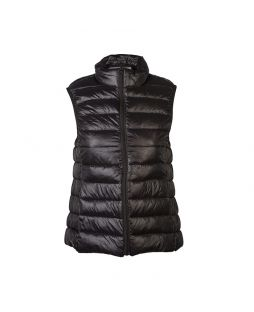Faux Down Vest Black