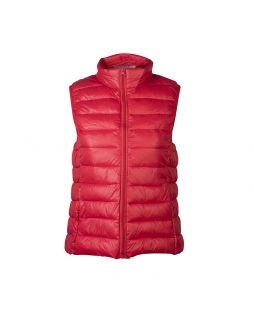 Faux Down Vest Red