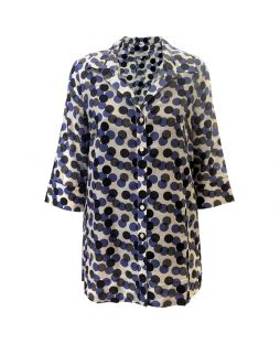 Multi Polka Dot Cotton Silk Shirt