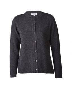 Lambswool Cardigan Charcoal