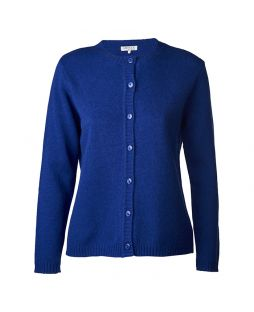 Lambswool Cardigan Royal Blue
