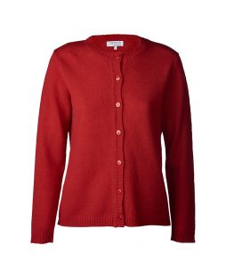Lambswool Cardigan Red
