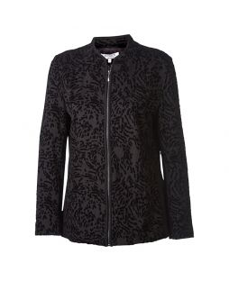Viscose Flocking Ponti Jacket Black