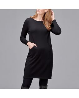 Merino Emily Wool Dress Black