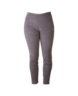 Cotton Mini Corduroy Pant Pewter