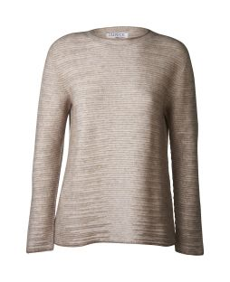 Possum Dalton Shadow Crew Jumper Natural / Shell