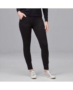 Slim Leg Zip Detail Pant Black