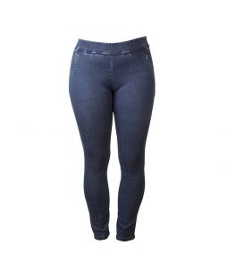 Cotton Denim Pull On Pant Navy