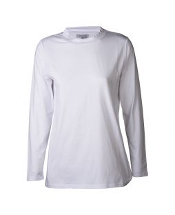 Cotton Mock Turtleneck White