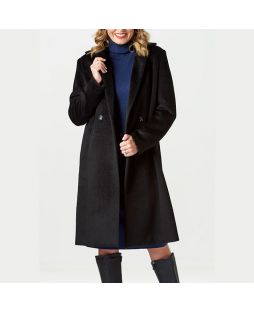 Alpaca Longline Coat Black