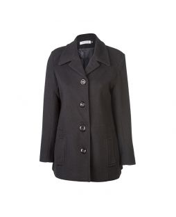 Woollen Lee Coat Black