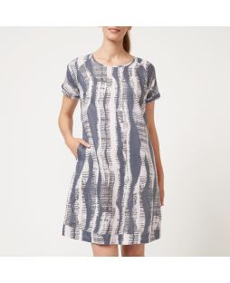 Linen Dress - Abstract Print