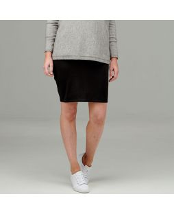 Double Layer Wool Skirt Black