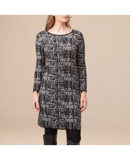 Cotton Cashmere Dress Black/White