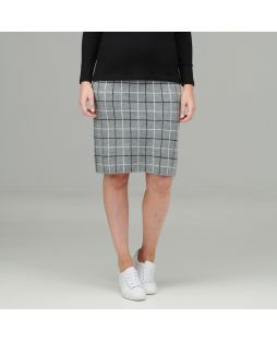 Wool Skirt - Grey Check