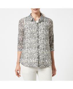 Cotton Silk Shirt - Leopard Print
