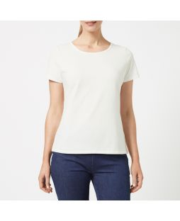 Cotton Elastane T-Shirt - White