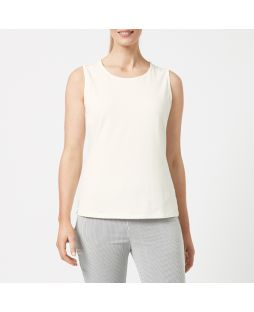 Cotton Elastane Tank Top - Off White