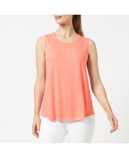 Linen Jersey Tank Top - Coral