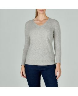 Possum V-Neck Jumper Quartz