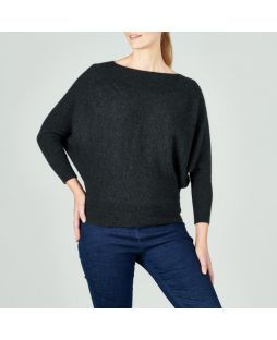 Possum Berringdale Batwing Jumper Light Charcoal