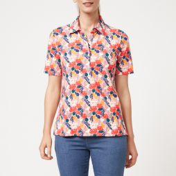 Perfect Polo Top - Floral